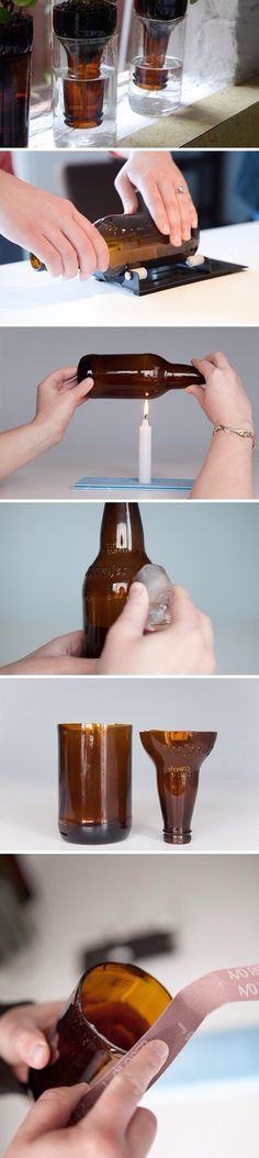 Cutting glass bottles..