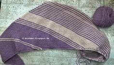 Strickschal Drachenfels Dreieckstuch / knitted shawl