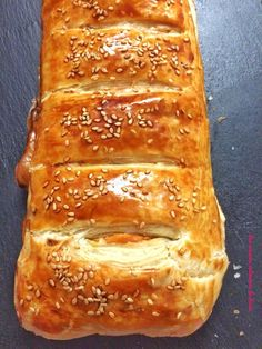 Feuilleté roulé à la viande hachée - Les saveurs culinaires de Rosa Bread, Cooking, Quiches, Food, Pizza, Kitchen, Brot, Essen, Baking