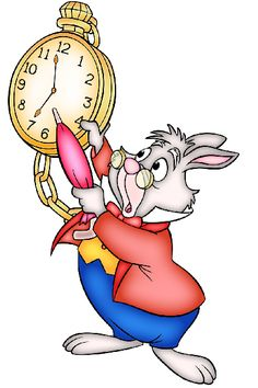 White Rabbit with Clock - great companion image to printable journal cards
