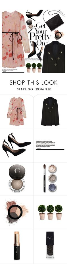 """""""Get Your Pretty On"""" by poppynight ❤ liked on Polyvore featuring Valentino, Elie Saab, Loeffler Randall, Chantecaille, Bare Escentuals, It Cosmetics, Bobbi Brown Cosmetics and HOTmakeup"""