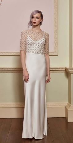 Angel and Allegra - Beaded top for bridal gown by Jenny Packham