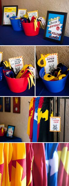 "X-Man's Superhero 5th Birthday; I think we could make extra mask for some of the party goers...just to keep the theme going and kind of like ""goodie bags"". I am saying that NOW before we actually start making stuff lol"