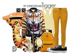 """""""Tigger"""" by leslieakay ❤ liked on Polyvore featuring Kenneth Jay Lane, Dettagli, Halcyon Days, Yummie by Heather Thomson, MCM, Converse, women's clothing, women's fashion, women and female"""