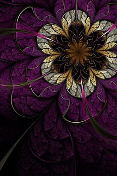 Beautiful Fractal ~ Purple and Brown