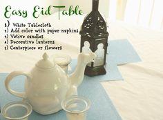 Easy Eid Table