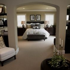 luxury bedroom with an amazing bed