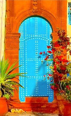 "Beautiful door, ""Colors of Morroco..."""