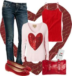 Cute Valentine's Day Outfits | Polyvore Valentine's Day Casual Outfits For Girls & Women 2014 ...