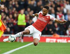 Pierre-Emerick Aubameyang of Arsenal during the Premier League match between Arsenal FC and Everton FC at Emirates Stadium on September 2018 in London, United Kingdom. Get premium, high resolution news photos at Getty Images Aubameyang Arsenal, Everton Fc, Eden Hazard, Education Humor, Premier League Matches, Celebration Quotes, Old Trafford, Great Team, Fernando Torres