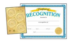 Reward achievement with one easy pack. Recognition certificates and coordinating embossed Award Seals honor special accomplishments to make every child feel like a success.