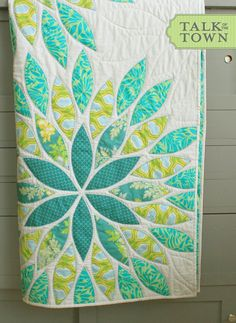 Sea Glass Applique Baby Quilt PDF by talkottown on Etsy