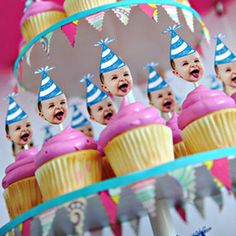 i love it!  what better theme than the birthday babe!