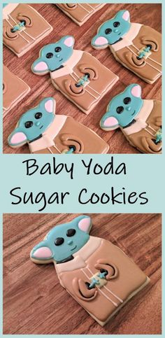 Learn how to make the cutest Baby Yoda this side of the galaxy! Perfect for birthday parties or any Star Wars enthusiast!  #butfirstcookies #sugarcookies #yoda #babyyoda #starwars