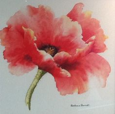 This week I have an early Christmas gift for you. It is a special lesson for you from my friend, Barbara Barrett, who was my co-tutor at my Ireland workshop t Watercolor Painting Techniques, Watercolor Projects, Watercolor Paintings, Watercolors, Watercolor Poppies, Watercolor Illustration, Poppies Painting, Abstract Flowers, Flower Art