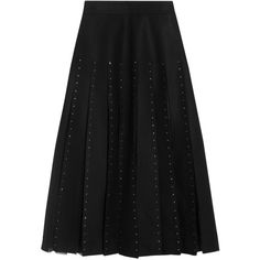 Valentino Tulle-paneled embellished wool-felt skirt (€1.640) ❤ liked on Polyvore featuring skirts, wool skirt, valentino skirt, embellished midi skirt, calf length skirts and tulle ballet skirt
