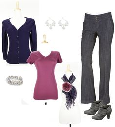 """""""Blackberry & Mauve"""" by sarah-noonan-dlugosh on Polyvore (inspired by Anne T.B.)"""