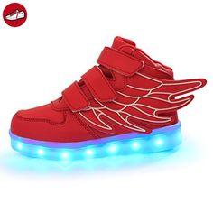 [Present:kleines Handtuch]Silber EU 26, JUNGLEST® Jungen Leuchtet Kinder Sneakers LED USB Fl?¹gel Bunte Sportschuhe Schuhe At