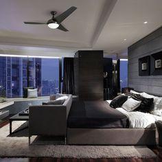 15 Incredible Modern Apartment Bedroom Design Ideas For Your Inspiration Modern Master Bedroom, Modern Bedroom Design, Master Bedroom Design, Contemporary Bedroom, Modern House Design, Master Bedrooms, Master Suite, Bedroom Black, Trendy Bedroom