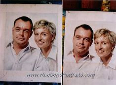 Realistic Oil Painting, Oil On Canvas, Painting Portraits, Hand Painted, Baseball Cards, Couples, Couple