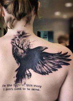 20 Inspirational Bird Tattoos | #tattoo, #tattooart, #bird #tattoodesign, #tattooidea