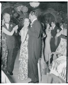 Cary Grant and Mary Brian dancing at the beverly Wilshire Hotel. July 1936