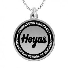 College Jewelry Organic Style Georgetown University Hoyas Rings Stainless Steel 6MM Wide Ring Band Vine Design