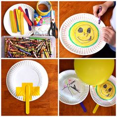 "Super-fun ""balloon ping pong"" craft kids can make themselves."