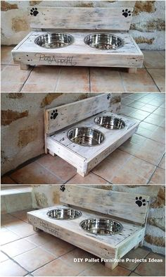 You can have this beautiful set of the dog food feeder in your house for adding the beauty over the whole surroundings. You will view the food feeder .