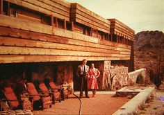 Frank Lloyd Wright. Rose Pauson House 1942. Phoenix, Arizona. (In 1943, a house fire destroyed the house).
