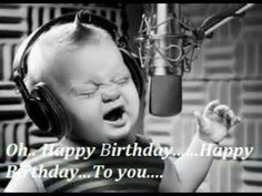 Baby singing happy birthday into microphone 21st Birthday Presents, Birthday Cake Card, Happy Birthday Cakes, Birthday Images Funny, Happy Birthday Pictures, Baby Singing, Singing Happy Birthday, Birthday Greetings, Birthday Wishes