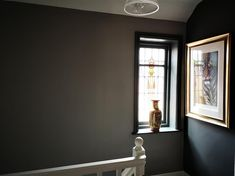 An inspirational image from Farrow and Ball Wall Colors, Paint Colors, Hallway Colours, Exterior Paint, Interior And Exterior, Modern Country Kitchens, Painted Side Tables, Eco Friendly Paint, Farrow Ball