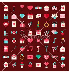 wedding day flat style icons vector by Anna_leni on VectorStock®