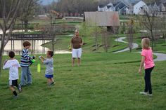 Bocce & Beer get together for the residents on the Lodge lawn on a beautiful spring evening