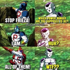"""82 Likes, 1 Comments - Trusted.trader (@supreme.frieza) on Instagram: """"Hahhaaa"""" Power Rangers Funny, New Dragon, Dragon Ball Z, Dbz Memes, Funny Dragon, Balls Image, Manga Japan, Z Warriors, Fairy Tail Funny"""