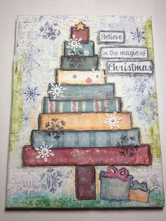 Christmas Mixed Media | Christmas Mixed Media Canvas Artwork | Mixed Media