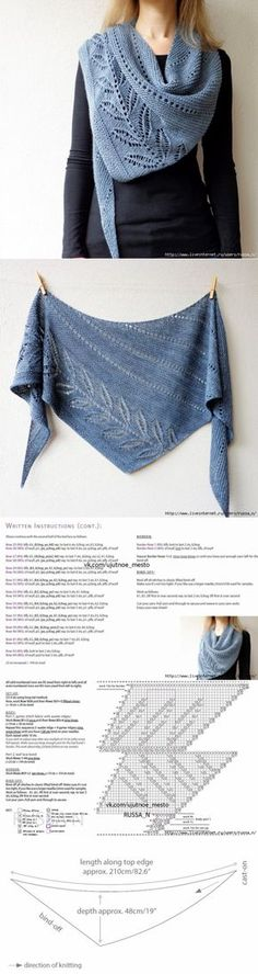 p/shawn-palanthines-bildschirme-gratis-strickanleitungen-strickmuster-und-hakel-anleitungen delivers online tools that help you to stay in control of your personal information and protect your online privacy. Poncho Au Crochet, Knitted Shawls, Knitted Blankets, Crochet Scarves, Lace Knitting, Knitting Stitches, Crochet Lace, Knitting Patterns, Shawl Patterns