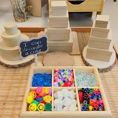Loose Parts Cake Play 🎂 We cant wait to see how our students use the loose parts to decorate their cakes. We hope that this invitation… Reggio Inspired Classrooms, Reggio Classroom, Preschool Classroom, Classroom Activities, Learning Activities, Preschool Activities, Preschool Birthday, Kindergarten Inquiry, Preschool Rooms