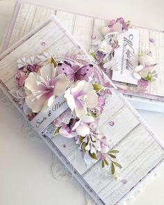 W czarną kropkę Flower Cards, Paper Flowers, Shabby Chic Cards, Engagement Cards, Card Maker, Flower Tutorial, Cute Cards, Greeting Cards Handmade, Vintage Cards