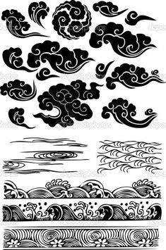 Classique nuage d'eau de mer icône Japanese clouds- for an addition to my dragon and geisha tattoo Geisha Tattoo Sketch, Geisha Tattoos, Tattoo Sketches, Geisha Drawing, Geisha Tattoo Design, Tattoo Drawings, Art Drawings, Kunst Tattoos, Irezumi Tattoos