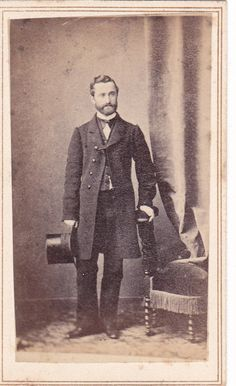 Circa 1865 CDV of A Good Looking Man in Long Coat with Silk Hat | eBay