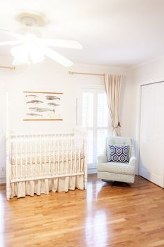 Bright and Airy Nautical Nursery - Project Nursery