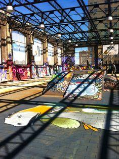 Graffiti skate park