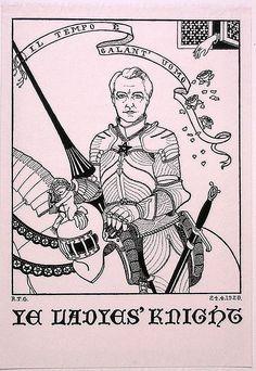 President Edward Heron-Allen, Sette of Odd Volumes, Illustrated in 1928 on Ladys' Night.