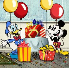 Mickey's Birthday With Donald Mickey Mouse 2013, Mickey Mouse Donald Duck, Mickey Mouse Shorts, Mickey Love, New Mickey Mouse, Classic Mickey Mouse, Mickey Mouse Cartoon, Mickey And Friends, Mikey Mouse