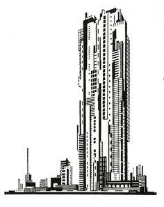 Graphic design by Iakov Chernikhov, 1925-1933
