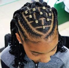 Braids for black women kids little girls cornrows 15 Super ideas - Hair - Natural Braids Updo Box Braids Hairstyles, Latest Braided Hairstyles, Protective Hairstyles For Natural Hair, Natural Hairstyles For Kids, Teen Hairstyles, Little Girl Hairstyles, African Hairstyles For Kids, Children Braided Hairstyles, Cornrow Hairstyles Natural Hair