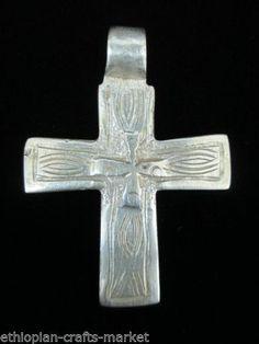 "Ethiopian Coptic Cross Pendant (1.8"" X 1.6"")"