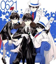 Many Kaito! Conan Comics, Detektif Conan, Manga Boy, Manga Anime, Anime Boys, Sherlock Holmes, Detective Conan Shinichi, Kaito Kuroba, Detective Conan Wallpapers