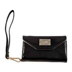 Michael Kors inspired Luxury iPhone 5 Black Shiny Purse Clutch Wallet By Colette,$14.99